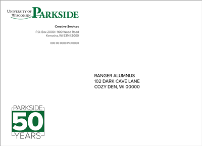 50 Year - Color Invite envelope with Mailing List (A7)