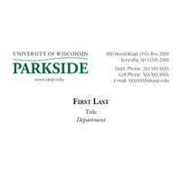 Business Cards: Vertical Wordmark with Fax #