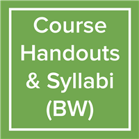 Course Handouts/Syllabi - BW