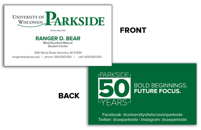 50 Year - Business Cards